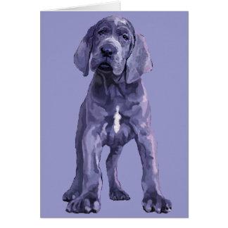 "Great Dane ""Big Baby"" Puppy Note Card"