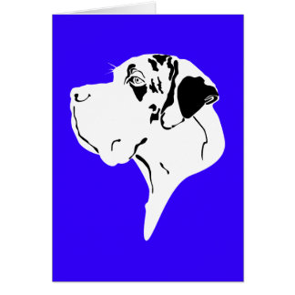 Great Dane Big Head merle Greeting Card