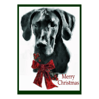 Great Dane Black Christmas Gifts Business Card Templates