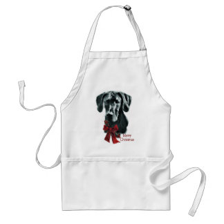 Great Dane Black Christmas Gifts Standard Apron