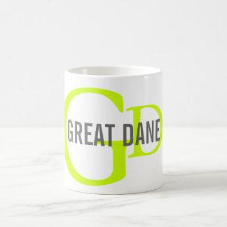 Great Dane Breed Monogram Design Basic White Mug