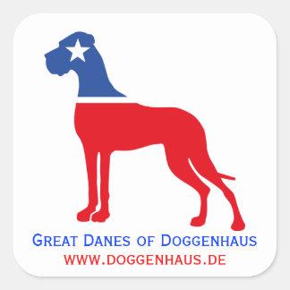 Great Dane breeder identity Square Sticker