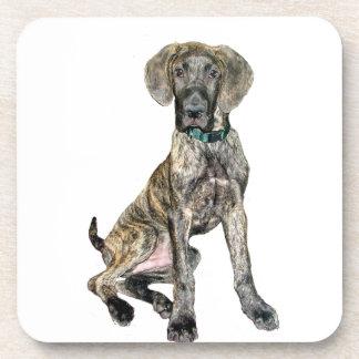 Great Dane Brindle Puppy Coasters
