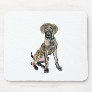 Great Dane Brindle Puppy Mousepads