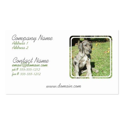 Great Dane Business Card