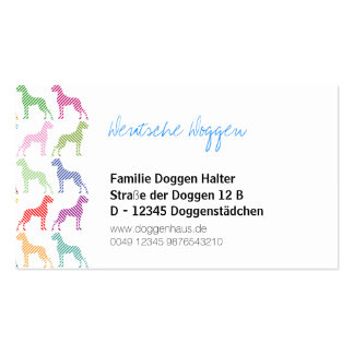 Great Dane Businesscards Pack Of Standard Business Cards