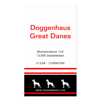 Great Dane Businesscards red core Pack Of Standard Business Cards
