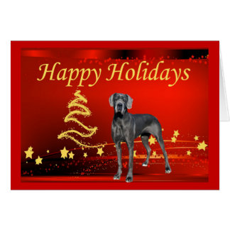 Great Dane Christmas Card Stars