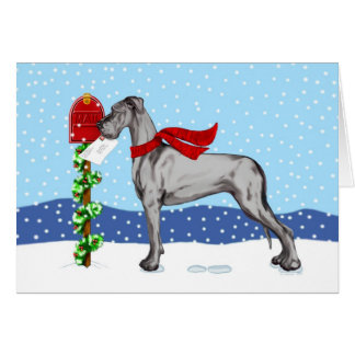 Great Dane Christmas Mail Black UC Card