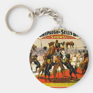 Great Dane Circus Show Key Ring