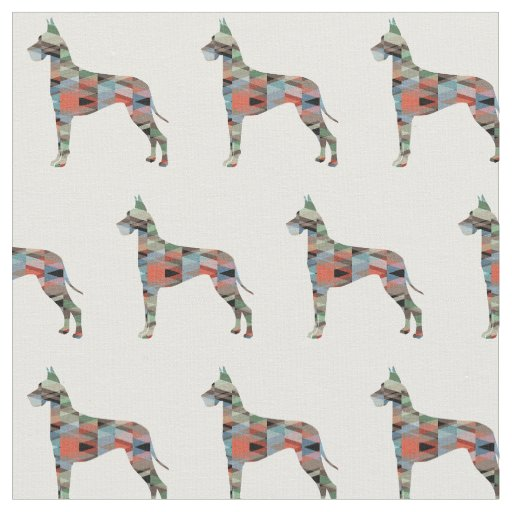 Great Dane Customisable Silhouette Tiled Fabric