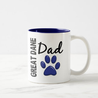Great Dane Dad 2 Two-Tone Mug