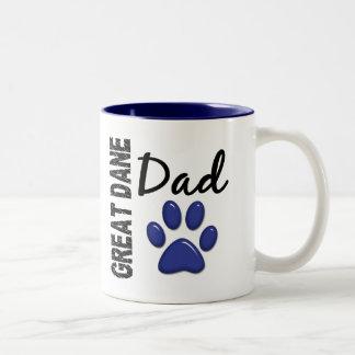 Great Dane Dad 2 Two-Tone Mug