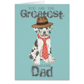 Great Dane Dad Greeting Cards