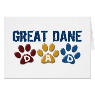 GREAT DANE Dad Paw Print 1 Greeting Card
