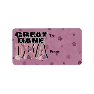 Great Dane DIVA Address Label