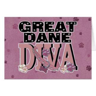 Great Dane DIVA Greeting Card