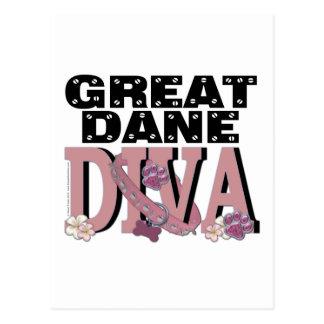 Great Dane DIVA Postcard