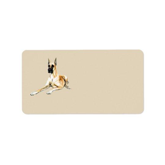 Great Dane Dog Art Address Labels