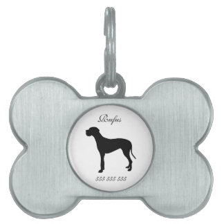 Great Dane dog custom name & phone no. dog id tag Pet Tag