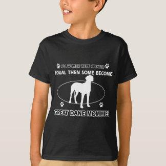 Great Dane Dog designs T-shirts