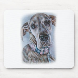 Great Dane Dog Drawing Design Mouse Pad