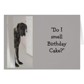 Great Dane Dog Humor Birthday Cake Fun Card