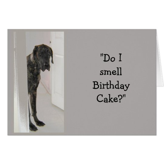 Great Dane Dog Humour Birthday Cake Fun Card