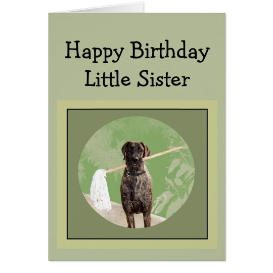 Great Dane Dog Humour Birthday Little Sister Fun