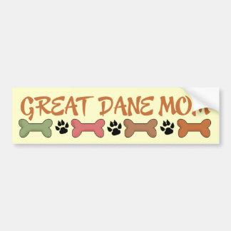 Great Dane Dog Mom Bumper Sticker