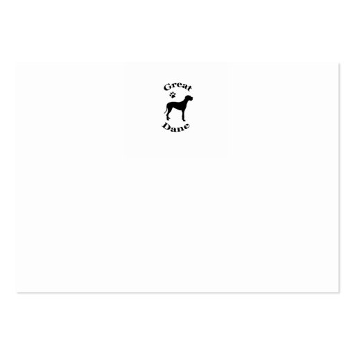 great dane dog pawprint silhouette business card