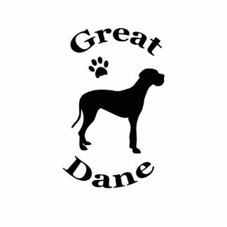 great dane dog pawprint silhouette sculpture standing photo sculpture
