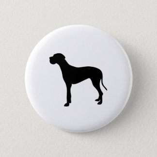 Great Dane dog silhouette 6 Cm Round Badge