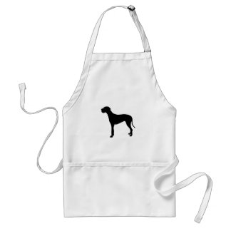 Great Dane dog silhouette Adult Apron