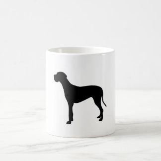 Great Dane dog silhouette Coffee Mug