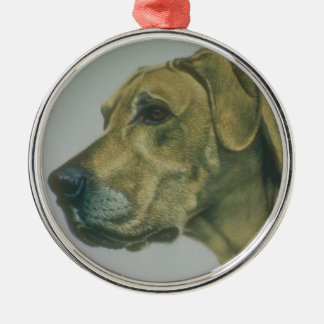 great dane.Dog Silver-Colored Round Decoration
