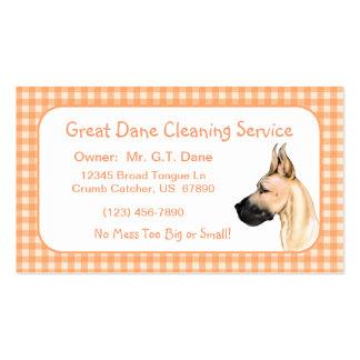 Great Dane Fawn Fem Business Cards