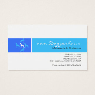 Great Dane formal Business Card