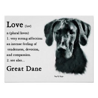 Great Dane Gifts Poster