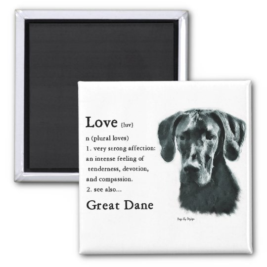 Great Dane Gifts Square Magnet