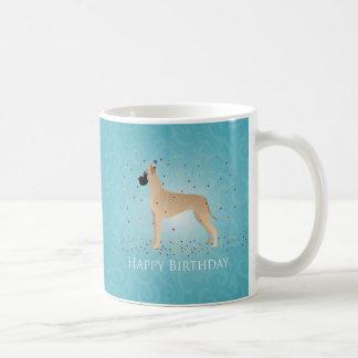 Great Dane Happy Birthday Design Basic White Mug