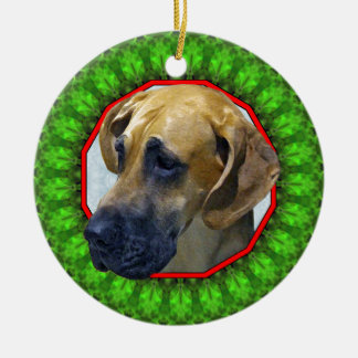 Great Dane Happy Howliday Christmas Ornament