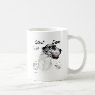 Great Dane (harlequin) History Design Coffee Mug