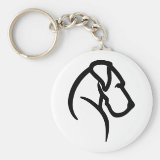 Great Dane Head Pet Tag Key Ring