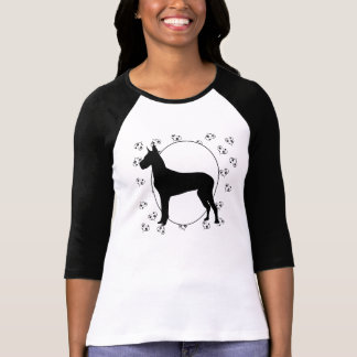 Great Dane Hearts and Pawprints T-Shirt