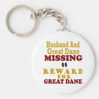 Great Dane & Husband Missing Reward For Great Dane Key Ring