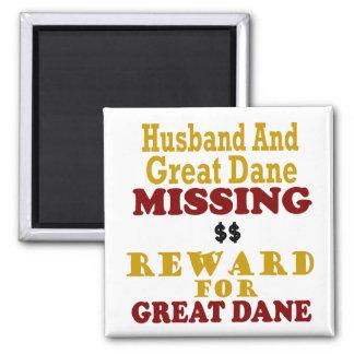 Great Dane & Husband Missing Reward For Great Dane Magnet