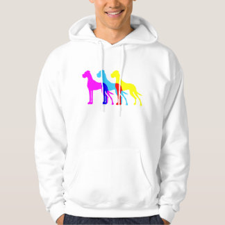Great dane illustration hoodie