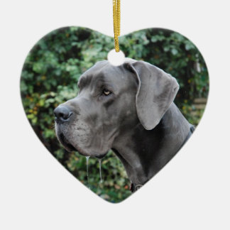 Great dane image ceramic heart decoration