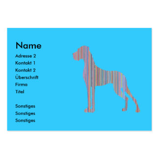 Great Dane in Pastel Colors Pack Of Chubby Business Cards